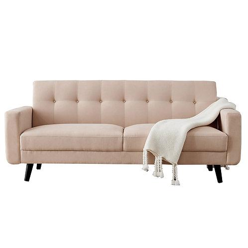 """Mid-Century 79"""" Modern Sofa in Beige"""