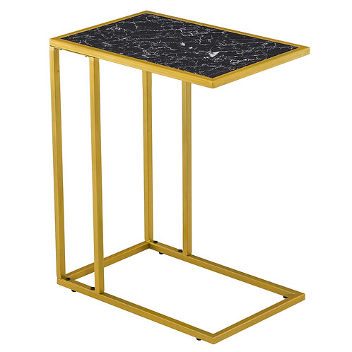 C-Shaped Marble Side Table