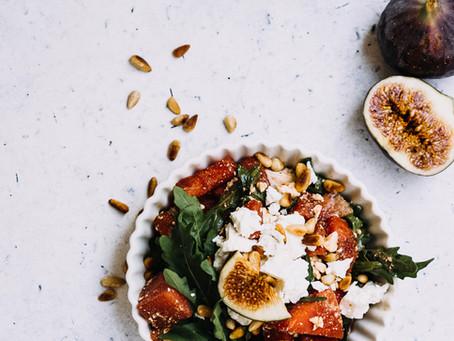 Melonensalat mit Rucola und Feta - Sommersalat vom Feinsten
