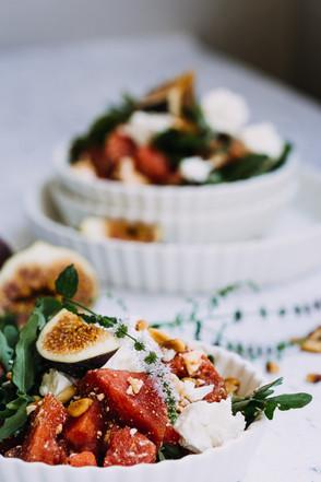 Melonen Feta Salat