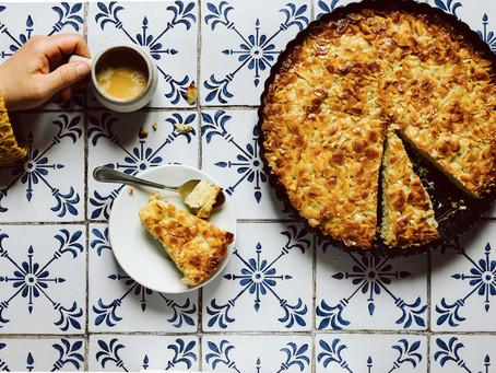 "Portugiesisch essen - ""Tarte de Amêndoa"" - Mandeltarte aus Portugal"