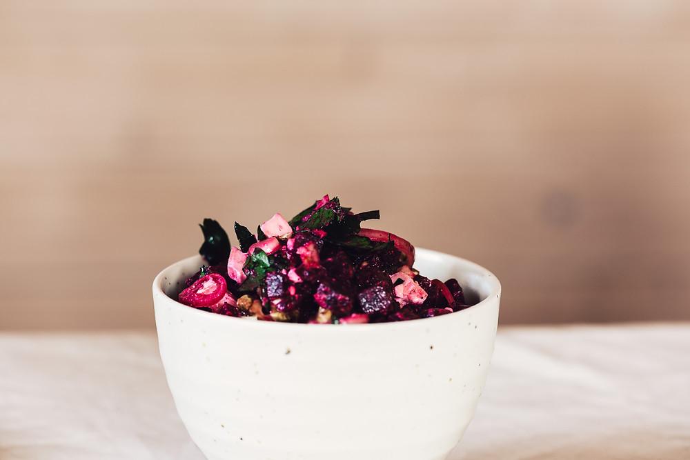 Buchweizen Wraps mit rote Beete Salat #buchweizenrezepte #rotebeeterezepte #veganerezepteschnell