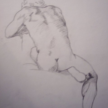 This was not a model from my life drawing class. Was practice work copying other artwork. Unsure who to credit for the original