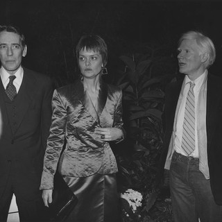 CS with Fred Hughes and Andy Warhol, 1979
