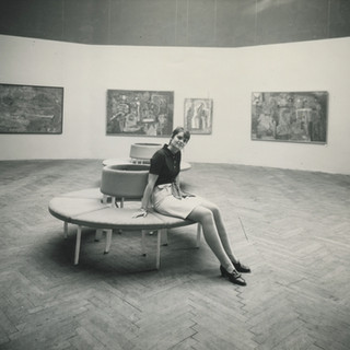 CS in one of the galleries of the Rufino Tamayo solo at Venice Biennial, 1968