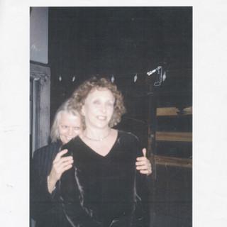 With Carolee Schneemann, 1999