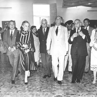 (L to R): Husband of Doña Margara Garza Sada de Sepulveda; Doña Margara Garza Sada de S; Rufino Tamayo, President José Lopez Portillo; Fernando Gamboa; and CS, 1981