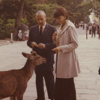 CS with Fernando Gamboa and deer, 1970