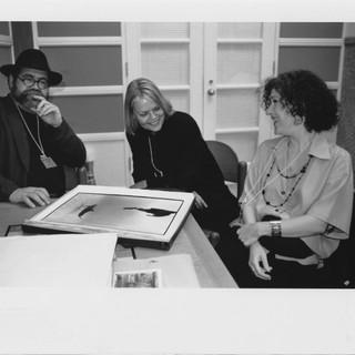 With Ricardo Viera and artist, 1996-97