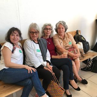 (L to R): Magali Lara, CS, Sylvia Palacios Whitman and Catalina Parra, 2017