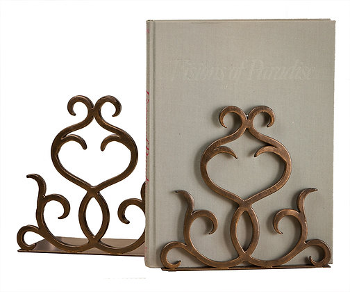 Bronze Flare Scroll Bookends