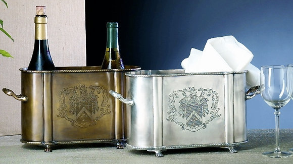 Antique Brass 2 Bottle Cooler