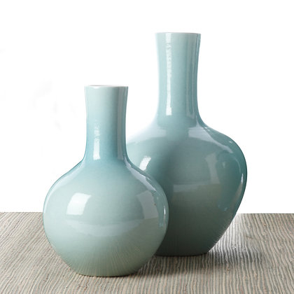 Aquamarine Collar Vase