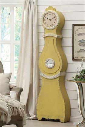 Distressed Yellow Floor Lamp
