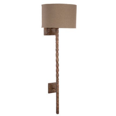 Rustic Twisted Iron Sconce