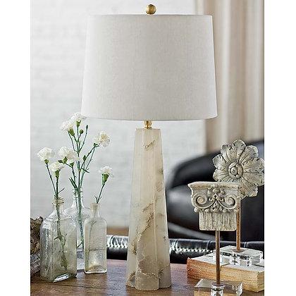 Small Alabaster Quatrefoil Lamp