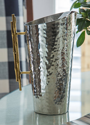 Nickel/ Gold Bamboo Pitcher