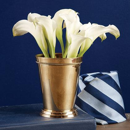 Gold Mint Julep Cup Vase
