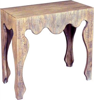 Scalloped Apron Console Table