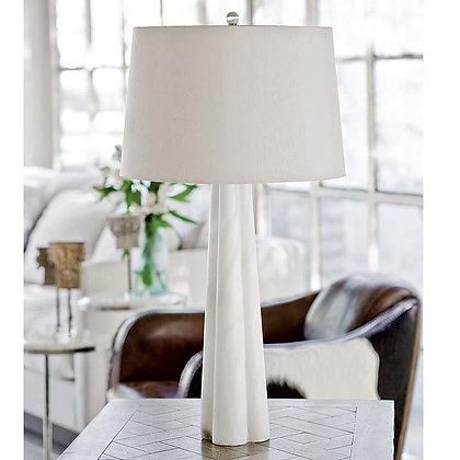 Large Alabaster Quatrefoil Lamp