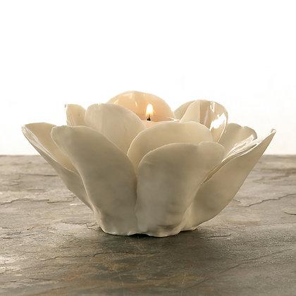 Blanc Rose Candle Holder