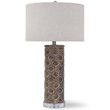 Carved Panel Column Lamp