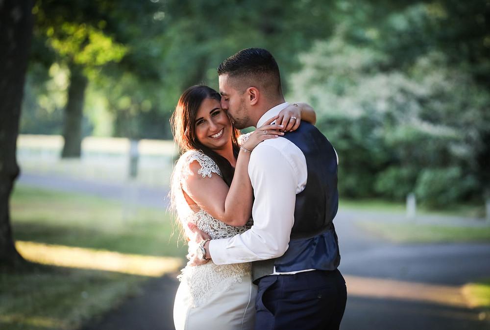 Blake Hall Wedding Photographer Essex Bride and groom