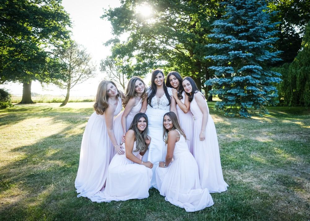 Essex wedding photographers bridesmaids and bride