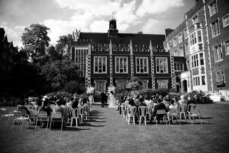 London Wedding photograph of Middle Temple Hall