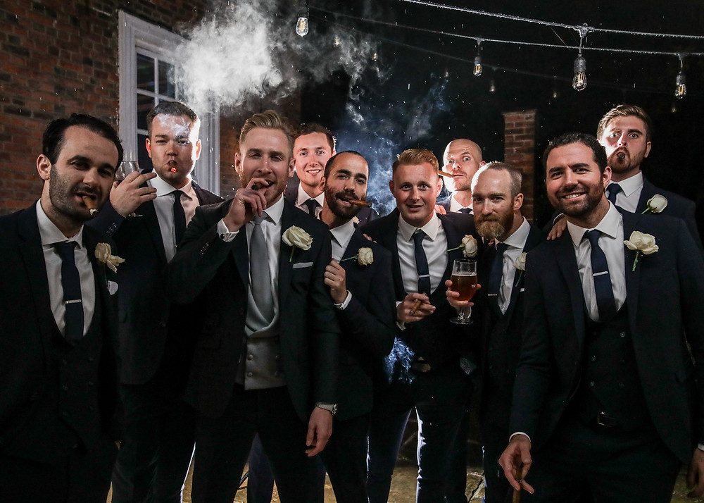 wedding photographers in Essex Groomsmen
