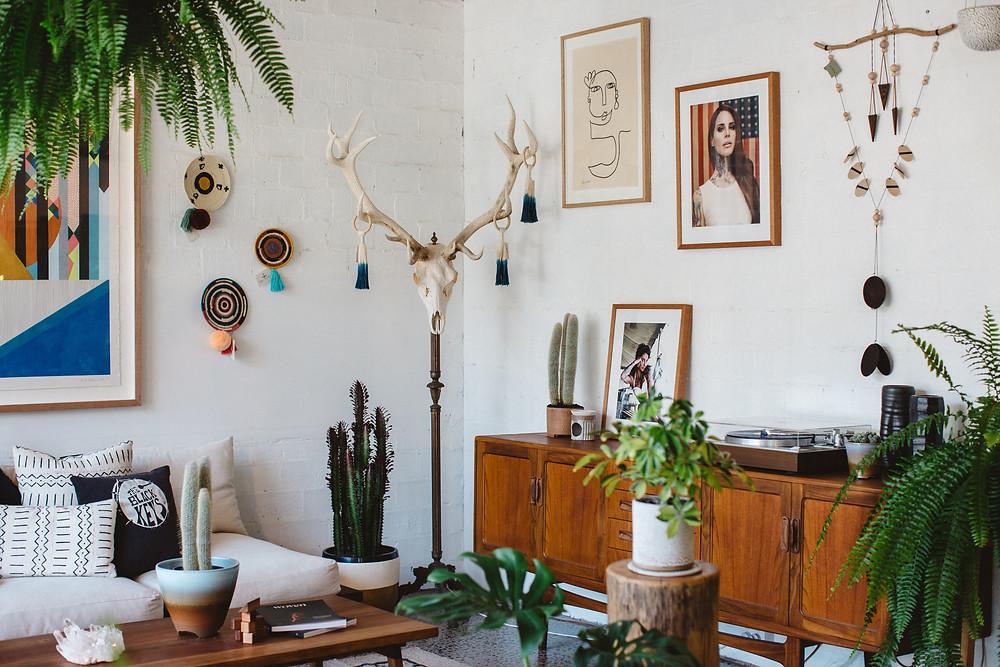 Přírodní interiér