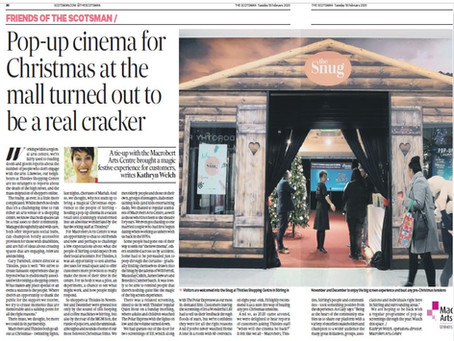 Pop-up cinema partnership featured in the Scotsman