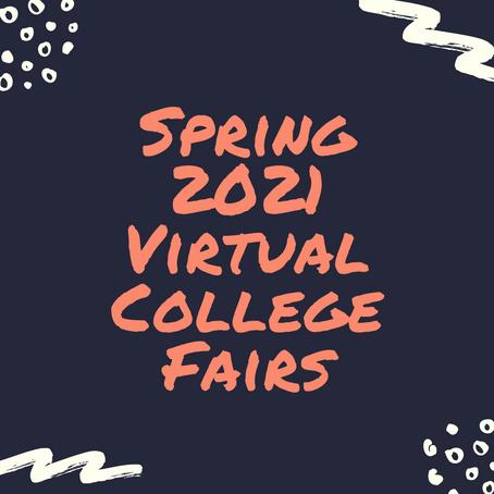 Spring 2021 Virtual College Fairs