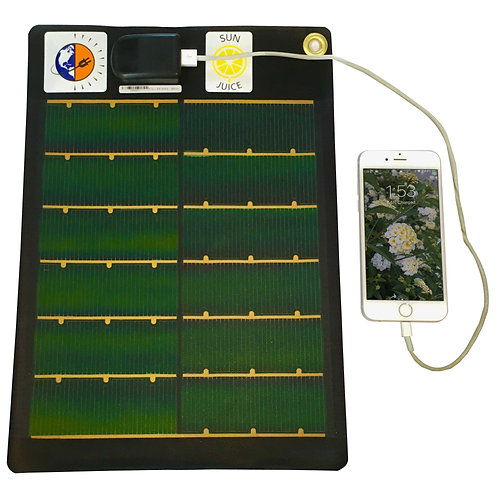 SunJuice™ Portable USB Solar Charger