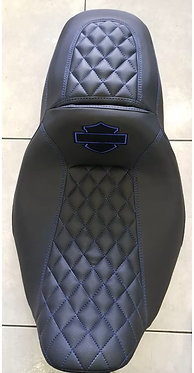 HARLEY Street Glide Seat Cover P52320-11 Blue Logo Stitch 2008-18 COVER ONLY