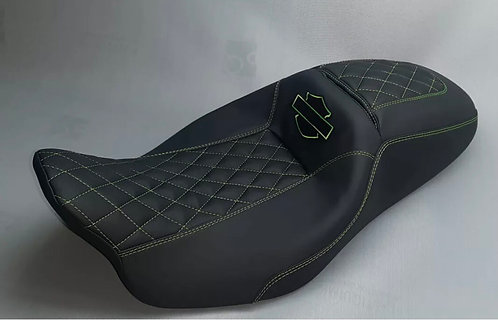 Street Glide HARLEY Touring Seat P52320-11, Green Stitching 2008-19 COVER ONLY