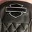 Thumbnail: HARLEY Street Glide Seat Cover P52320-11 White Stitching Logo 2008-18 COVER ONLY