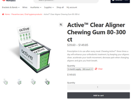 Active gum is now available at Orthodontic Details Marketplace
