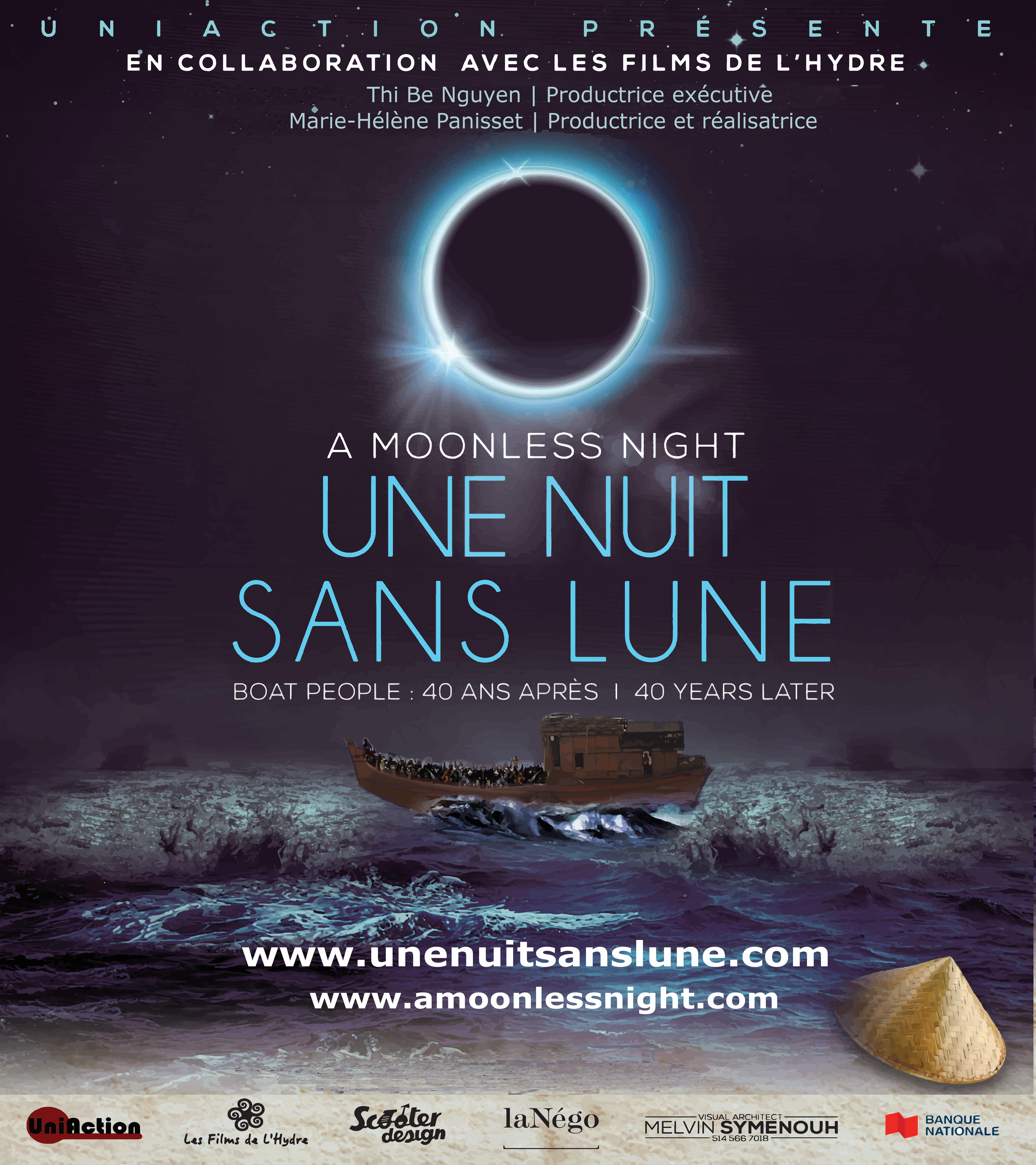 Une nuit sans lune Stickers and Magnets