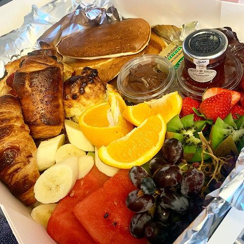 Takeaway breakfast platter for two
