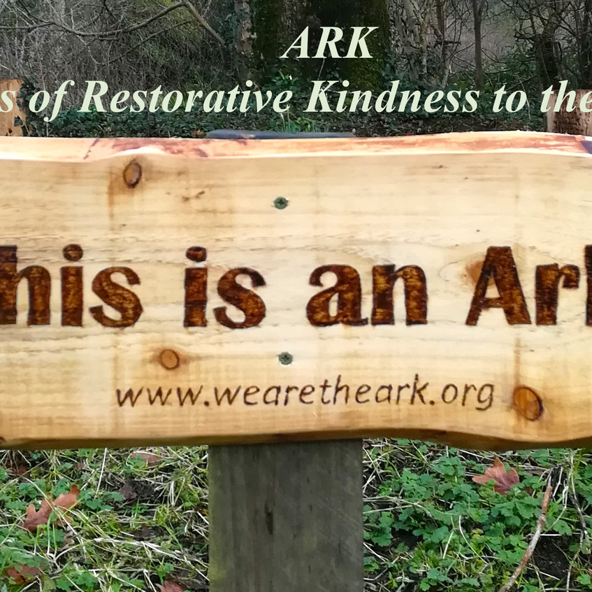 ark sign with words