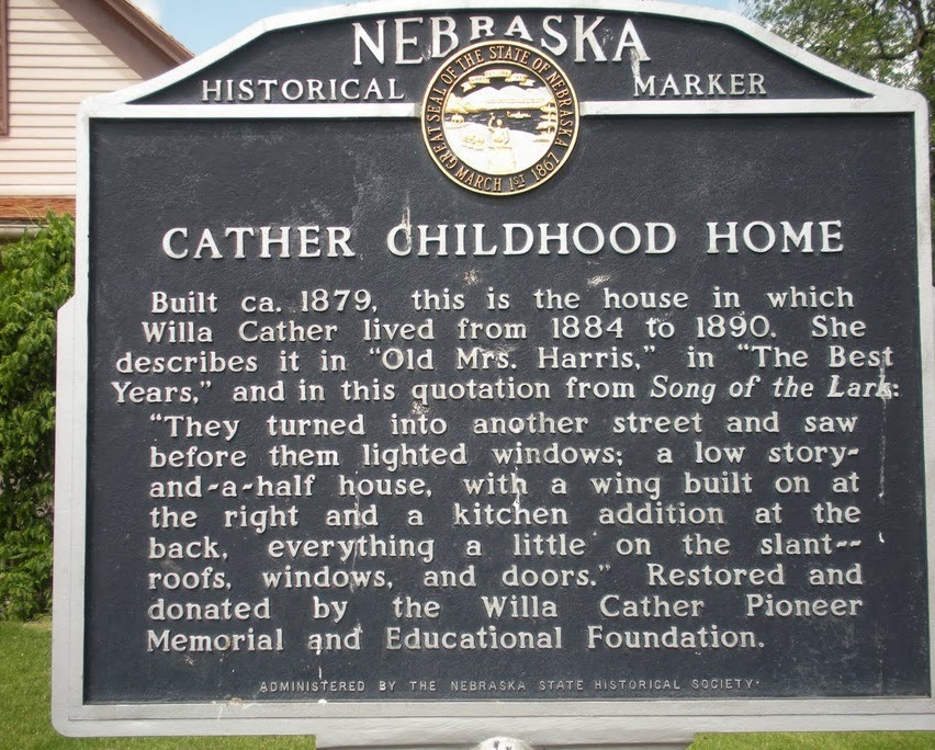 Willa Cather sign