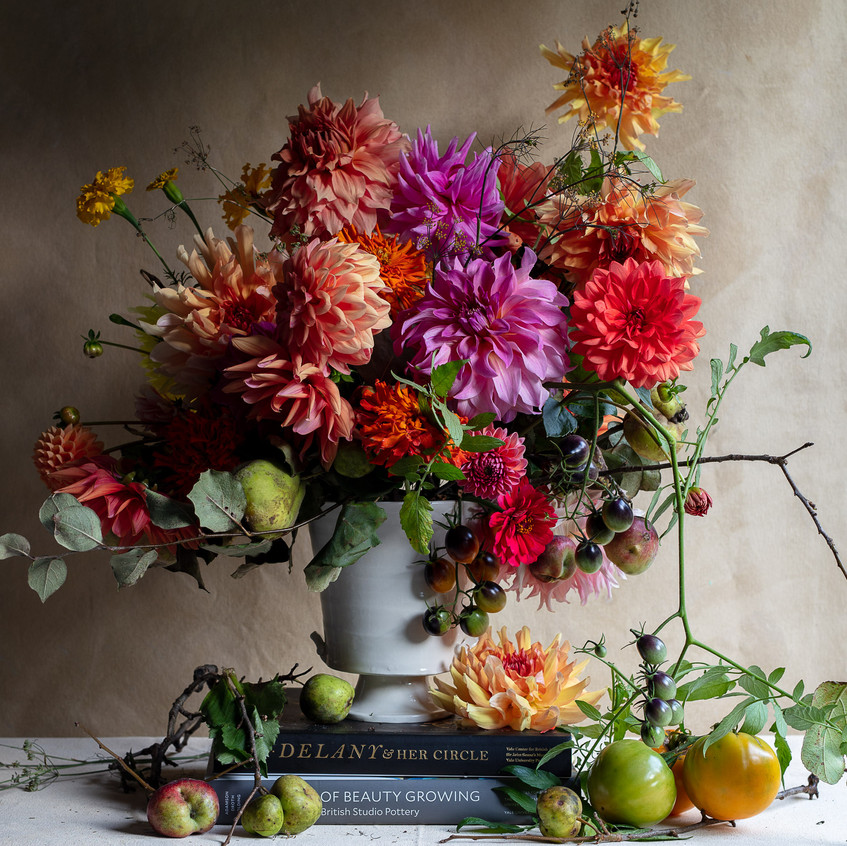 """Dahlia Delights - from """"Frances Palmer: Life in the Studio, Inspiration and Lessons on Creativity"""" (Artisan Press, Oct 6, 2020), all rights reserved."""