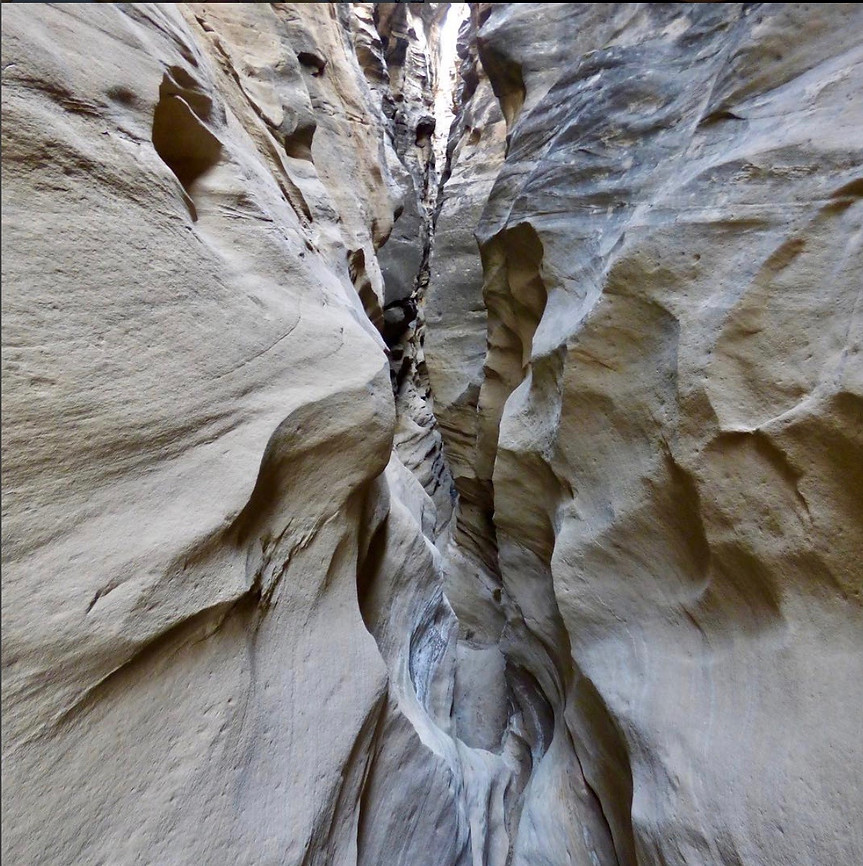 Slot canyon off of Tapia Canyon New Mexico #tapiacanyon