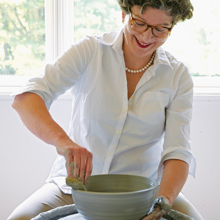 """At The Wheel - from """"Frances Palmer: Life in the Studio, Inspiration and Lessons on Creativity"""" (Artisan Press, Oct 6, 2020), all rights reserved."""
