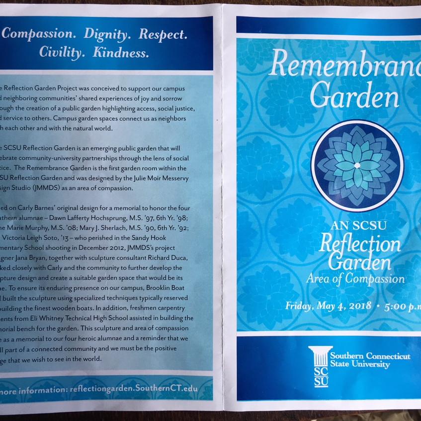 SCSU Reflection Garden Dedication