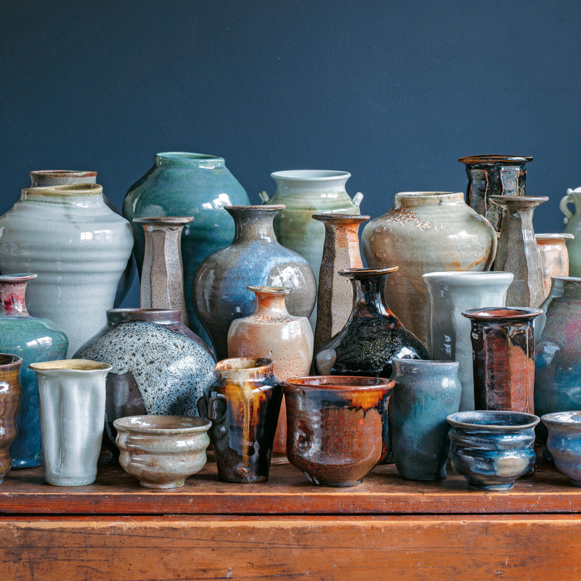 """A Diversity of Pots in Action - from """"Frances Palmer: Life in the Studio, Inspiration and Lessons on Creativity"""" (Artisan Press, Oct 6, 2020), all rights reserved."""