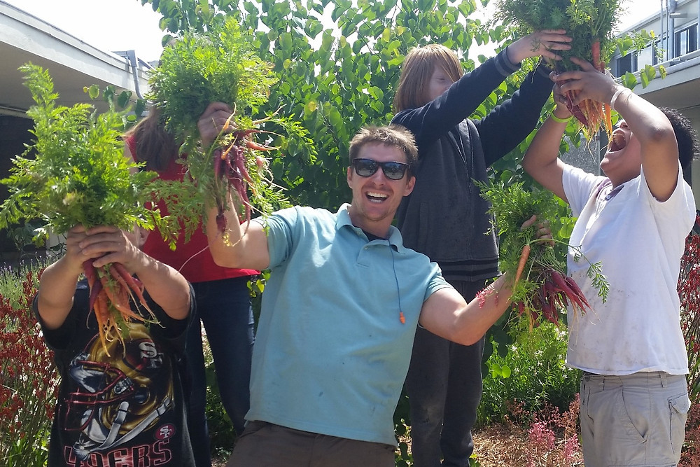 Kevin Jordan and his Horticulture Students. PHOTO courtesy of Leo A. Palmiter School - Sacramento, CA