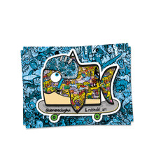 Der viereckige Hai Collab Sticker
