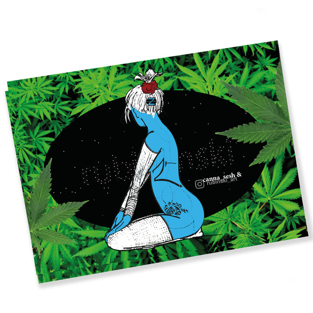 1st CannaSesh-Collab Sticker